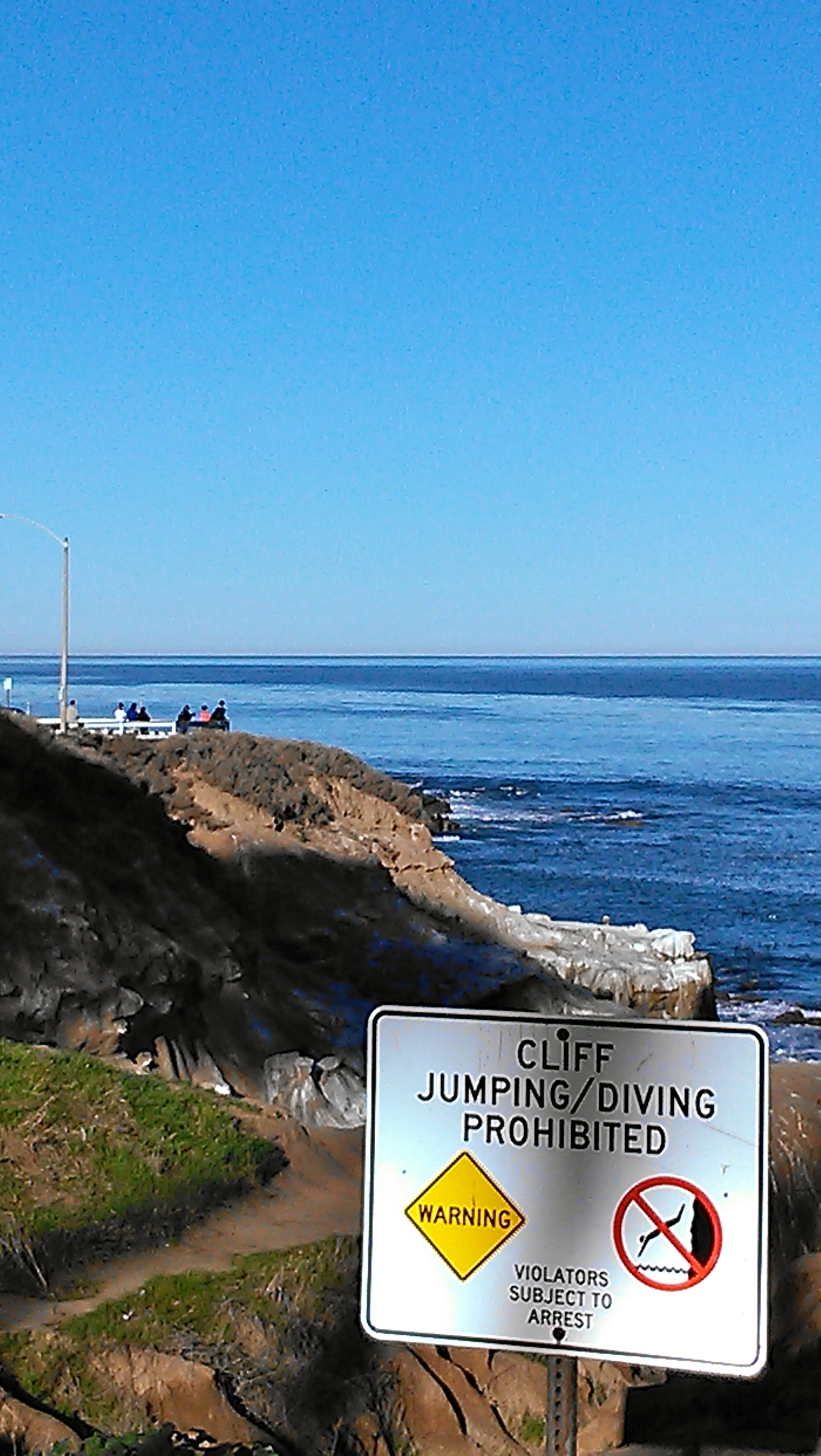 Cliffs at La Jolla