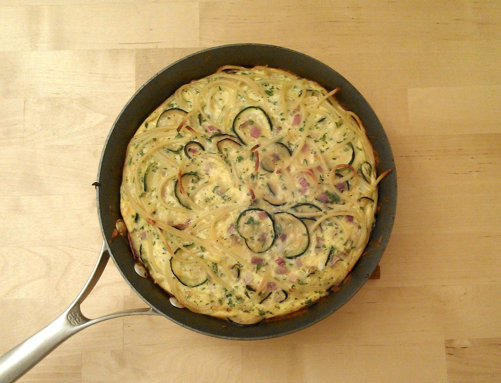 Pasta Frittata in Pan