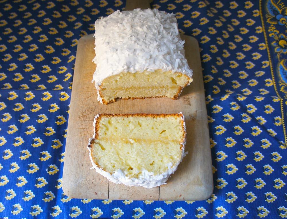 Lemon Coconut Loaf Layer Cake