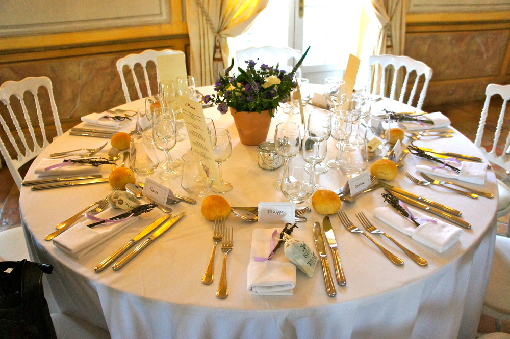Tables at Kendra's Wedding