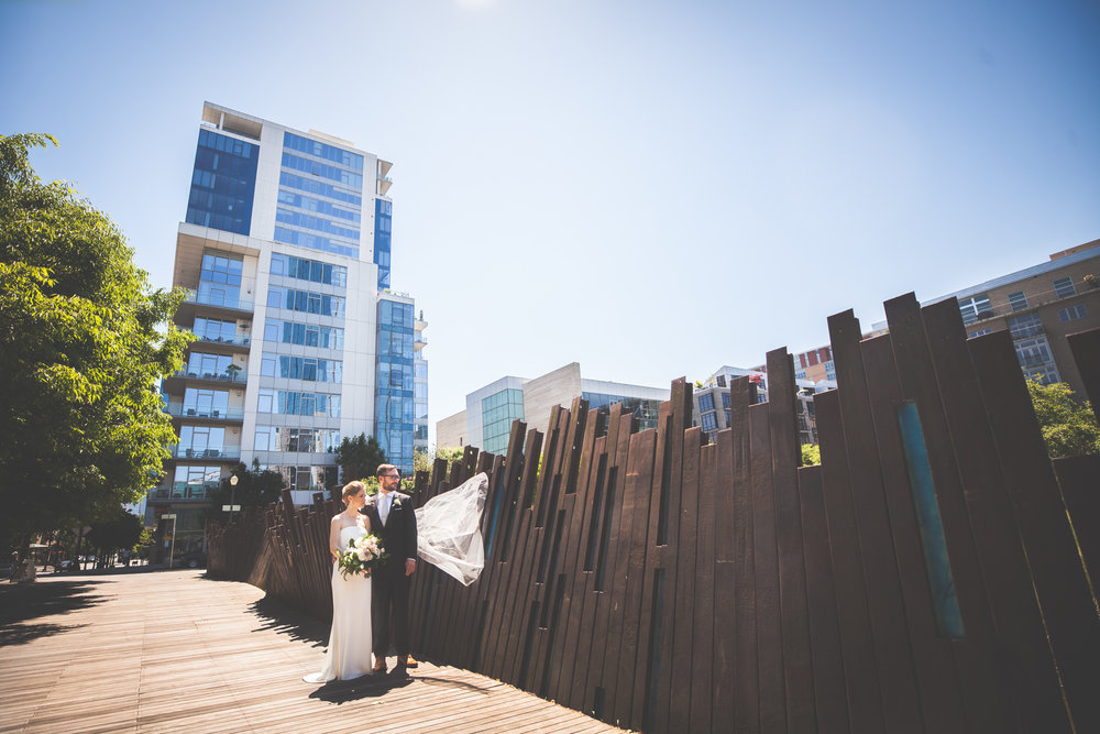 Lena & Nate - Pearl District Wedding   An Airbnb that looked like a castle, an epic first look at Tanner Springs Park, and a gorgeous Wedding at Urban Studio in the heart of the Pearl...