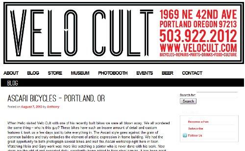 Velo Cult - August 7, 2013