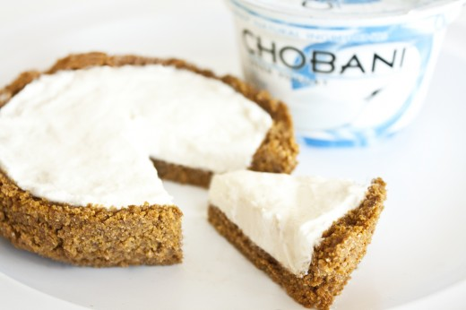 Chobani Cheesecake - for crust portion of recipe check out Rabbit Food for my Bunny Teeth.