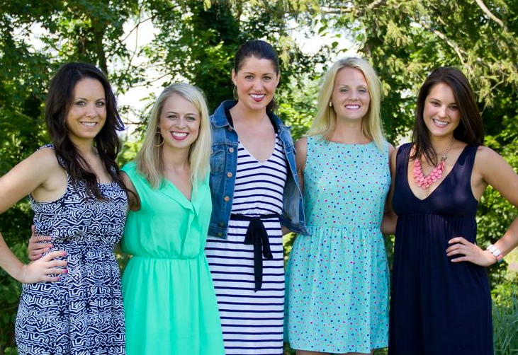 MY BRIDESMAIDS, MINUS TWO. CHELSEA, CASSIE, ME, KAYLEE, AND AMANDA.