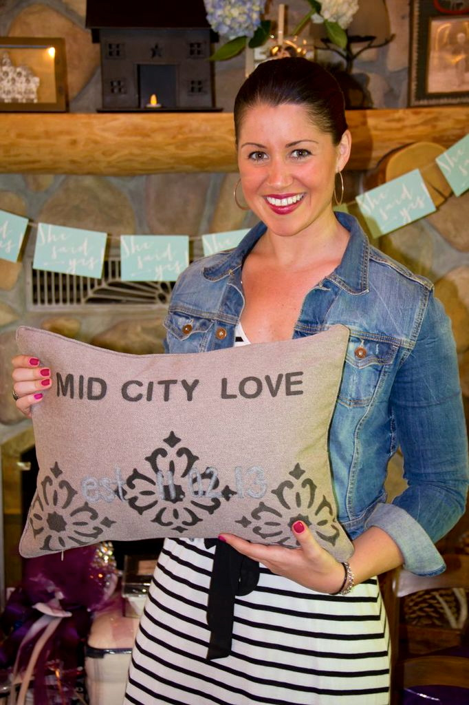 A SPECIAL GIFT FROM AMANDA. MID CITY LOVE PILLOW.