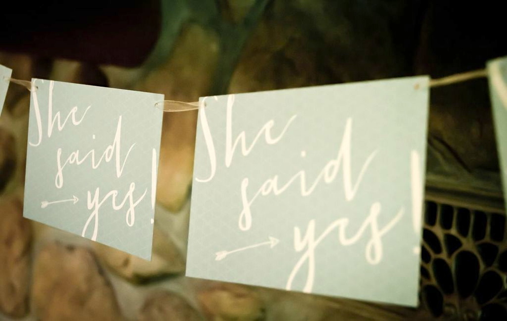 'SHE SAID YES' INVITES - DESIGNED BY AMY O'DONNELL.