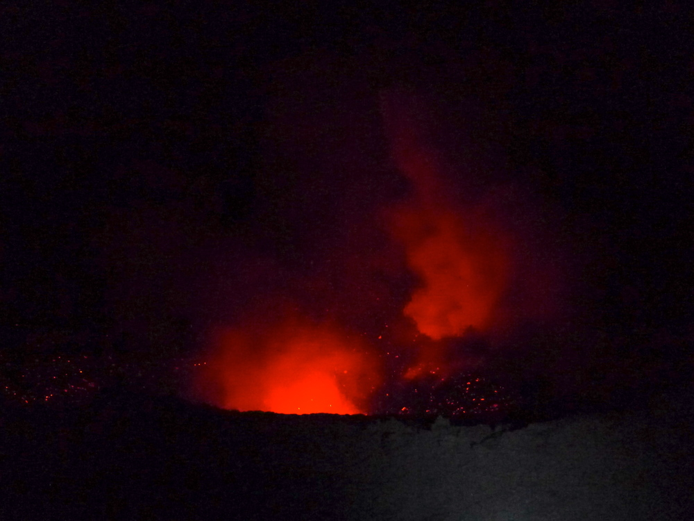 YASUR VOLCANO NIGHT ERUPTIONS.