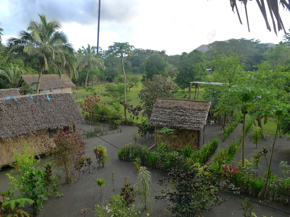 THE VIEW OF THE VILLAGE FROM OUR TREEHOUSE HUT.