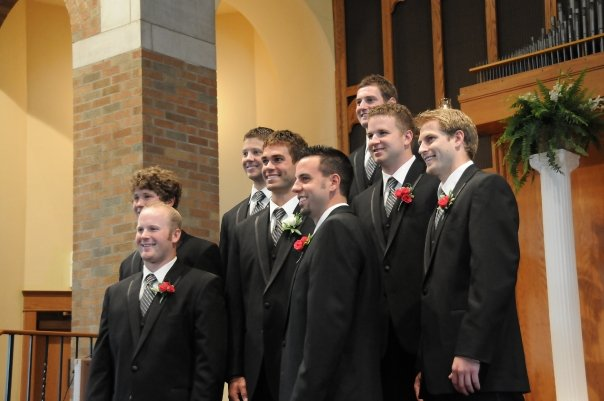 NATE AND CO. AT HIS WEDDING IN 2009