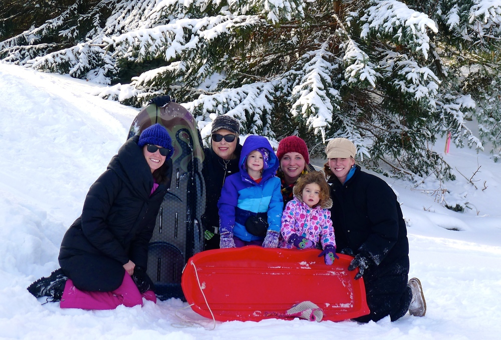 SNOW BUNNIES - ME, MARI, STEPH, JEN, EMMA, AND ZOE.