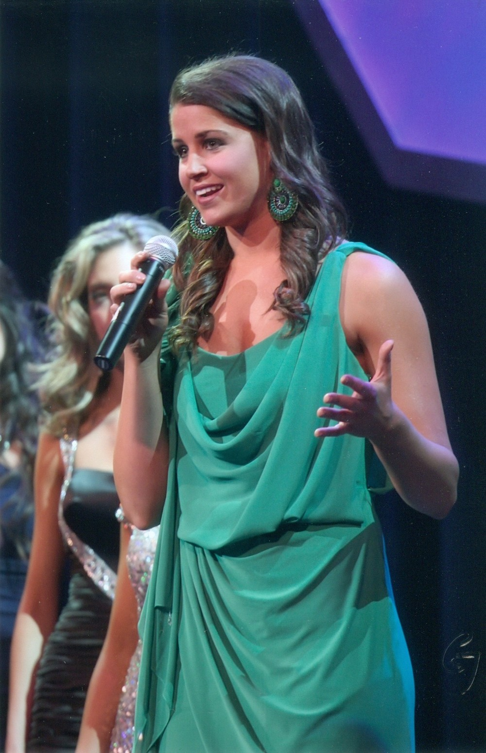 On Stage Question at Miss Michigan 2011.