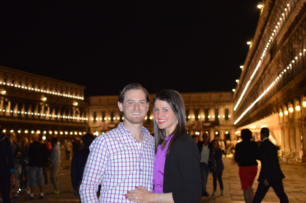 Jeff and me in Saint Mark's Square, Venice, Italy.