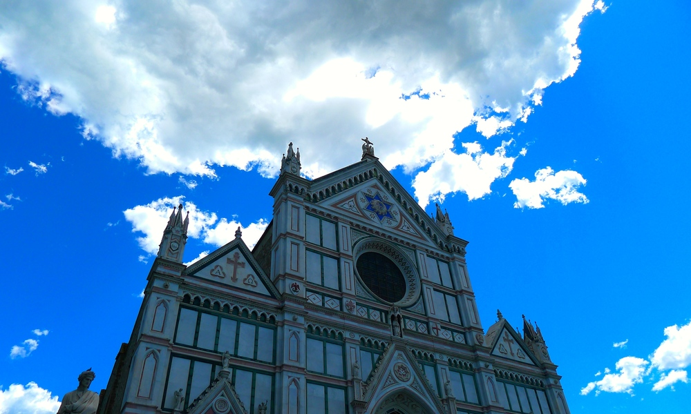 Cathedral Santa Croce in Florence, Italy.