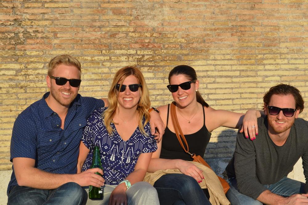 Our crew: Josh Van Vels, Emily Van Vels, Nichole Kladder, and Jeff Kladder. Rome, Italy.