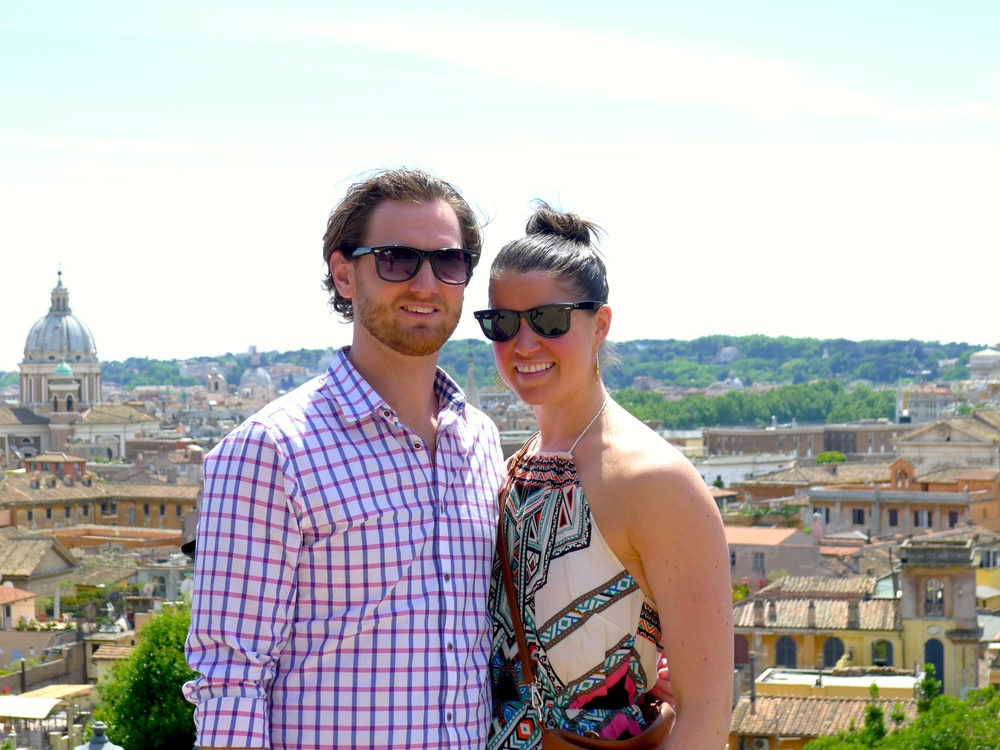 That's us, The Kladders, overlooking Rome, Italy.