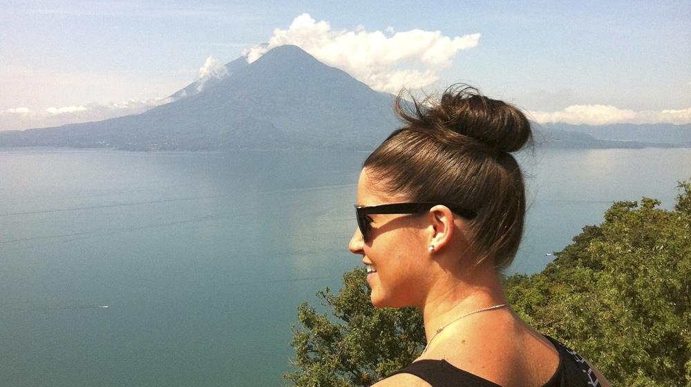 Overlooking Lake Atitlam in Panajachel, Guatemala. June 2012.