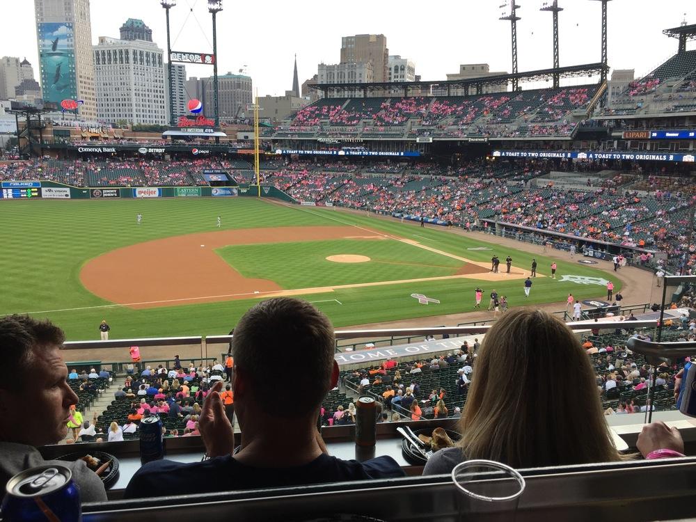 Comerica Park, Detroit Tigers Baseball.