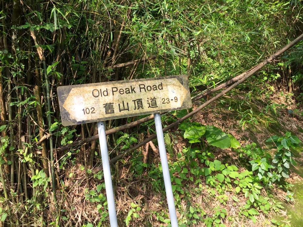 Old Peak Road on the way to Victoria's Peak in Hong Kong.