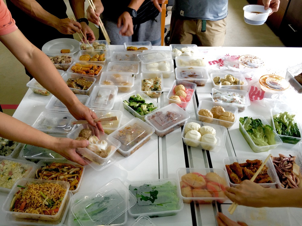 Dim Sum takeout we had for lunch multiple days. Great experience, not always sure of what I was eating.