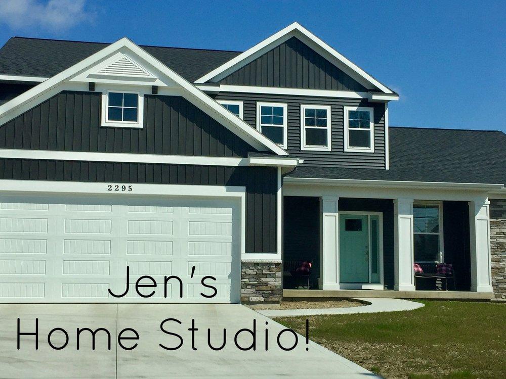 Jen's home studio is located at:2295 VanBuren Hudsonville, MI 49426