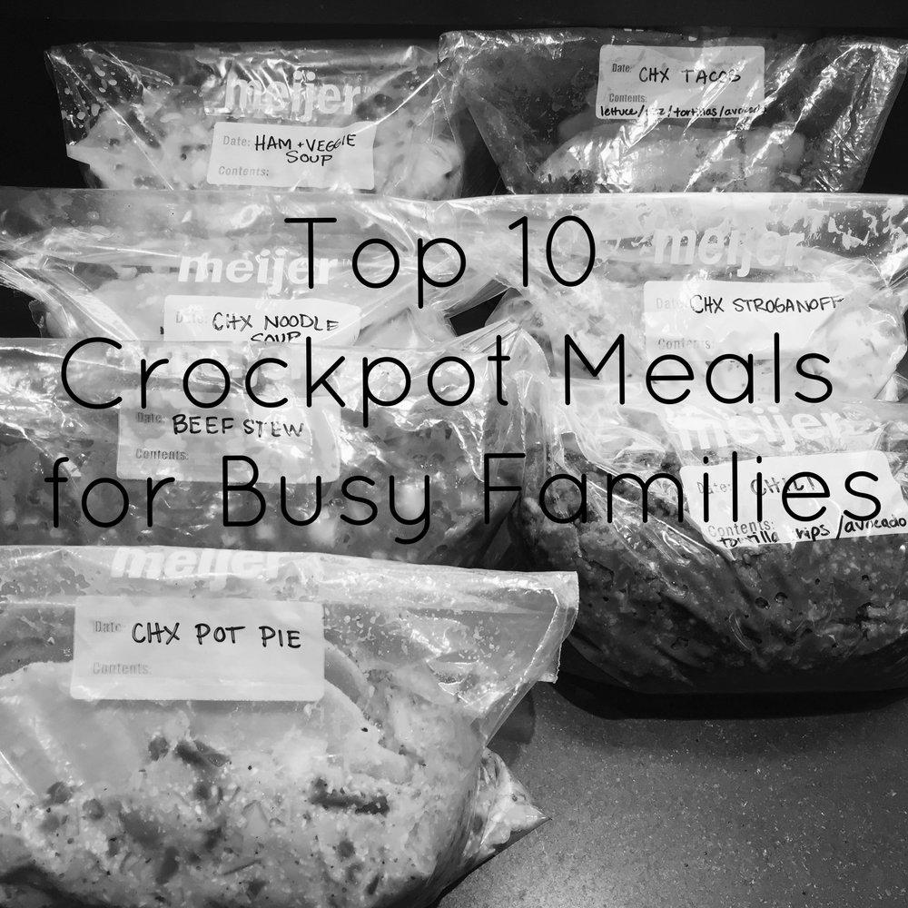 Top 10 Crockpot Meals
