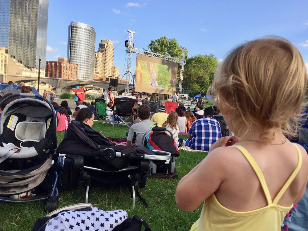 Movies in the Park at Ah Nab Awen in downtown Grand Rapids.