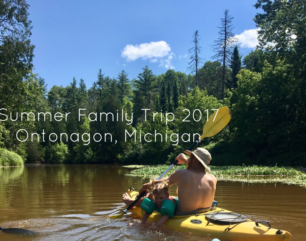 Jeff and Natalie kayaking down the West Branch of the Ontonagon River.
