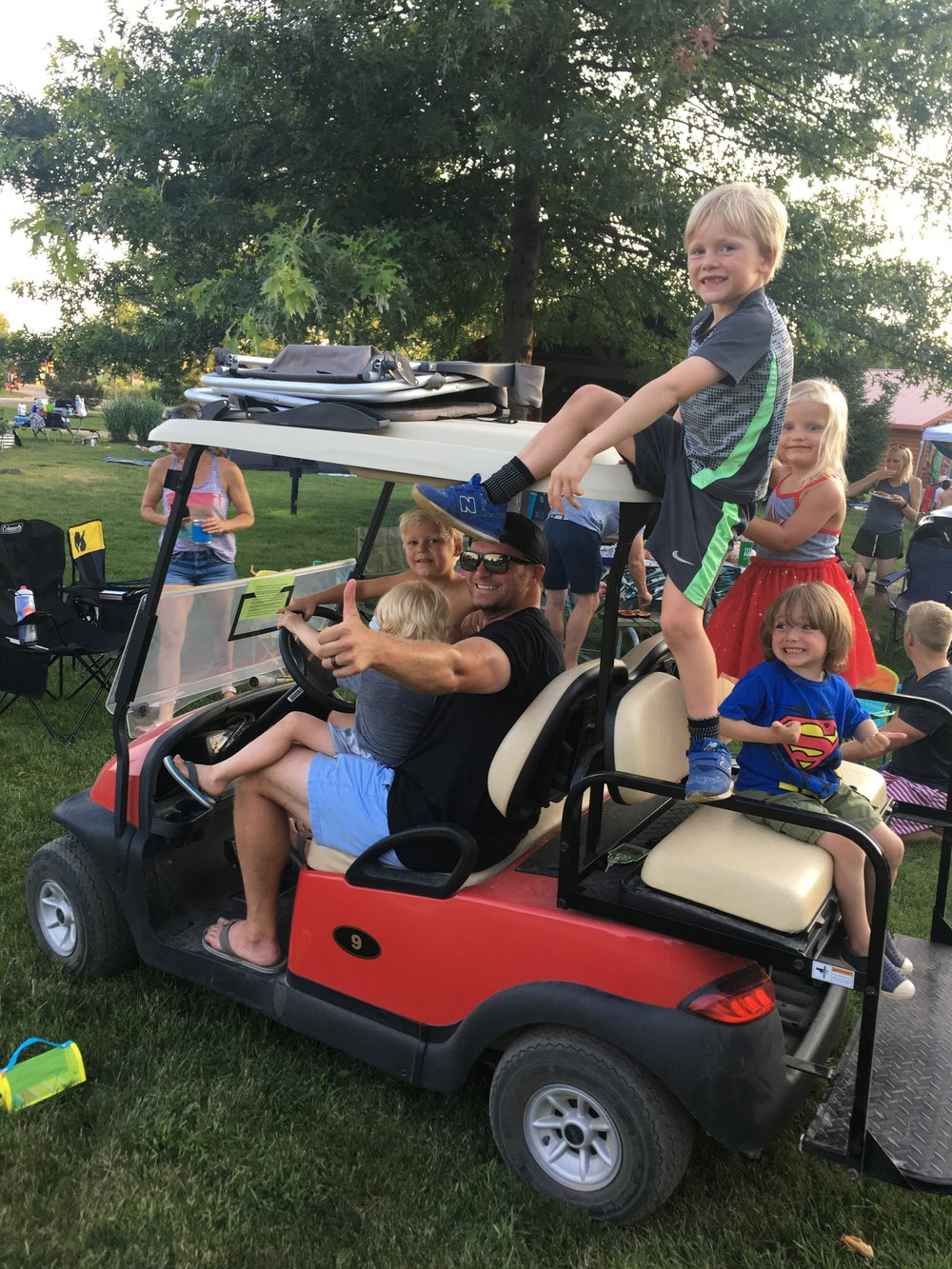 Yogi Bear Campground golf cart.JPG