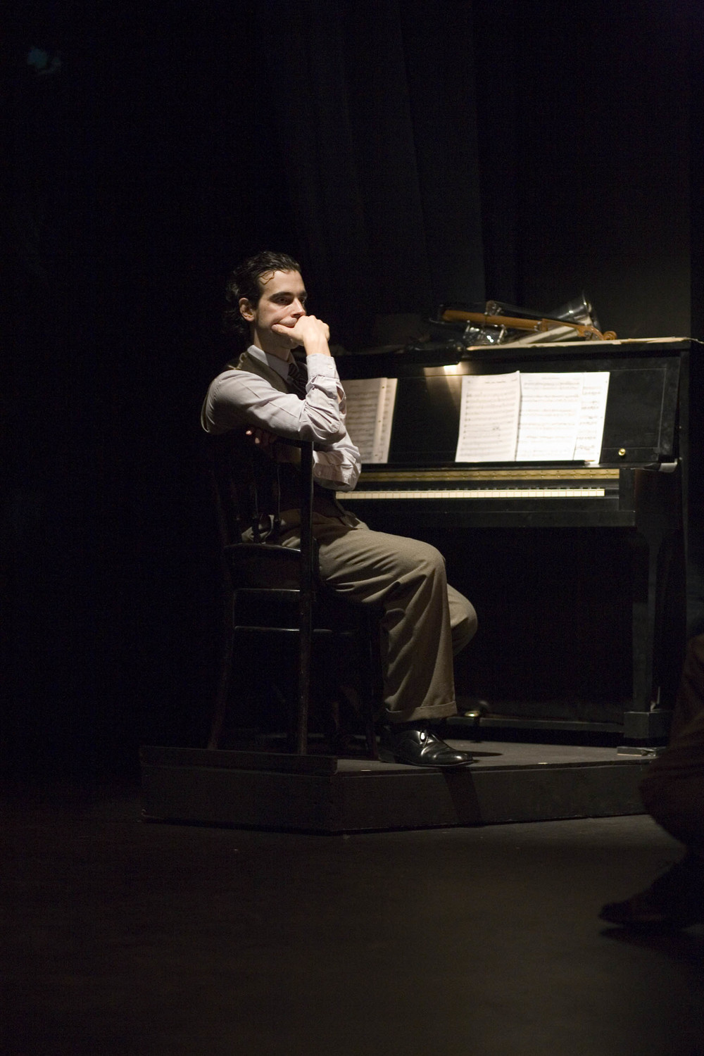 The great Jose Gonzales as Erwin Schulhoff          photo credit: Michelle Smith-Lewis Courtesy of Cornish College of the Arts