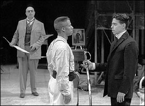 Tenor John Duykers as the Visitor, Bass Herbert Perry as the Commander, Actor Jose Gonzales as Franz Kafka