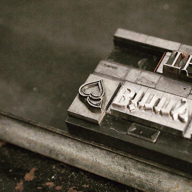 Lead heart ❤️ #metaltype #letterpress #printing