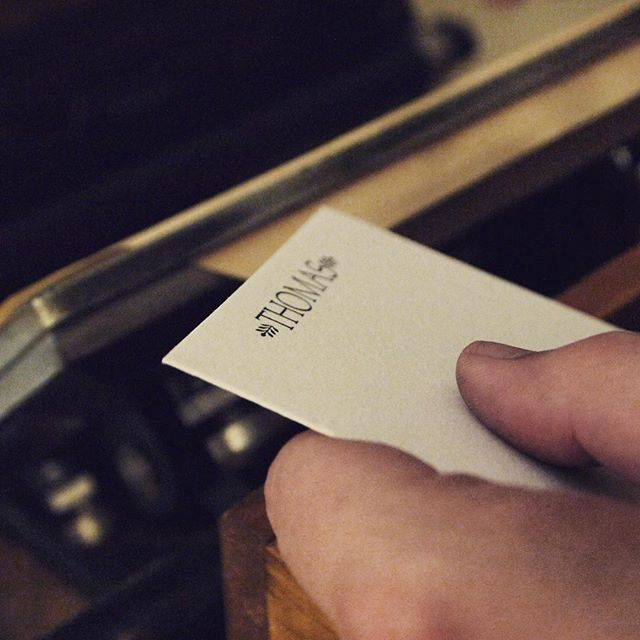 Started printing a new stationery line today! More preview photos to come 👍🏼📝 #letterpress #stationery #madebyhand #printing