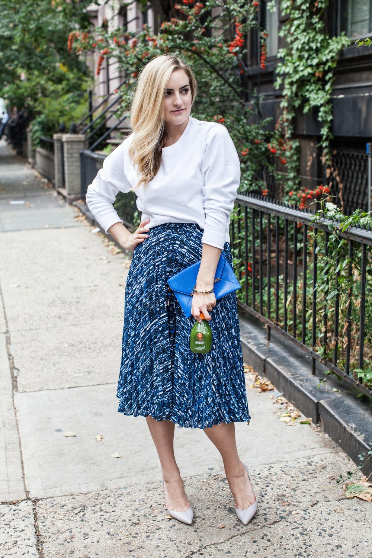 Reiss midi-skirt, fall, birtish, midi-skirt with a sweater, stilettos, my stiletto life, Tillie Adelson, Lydia Hudgens Photography, J crew, Organic Avenue