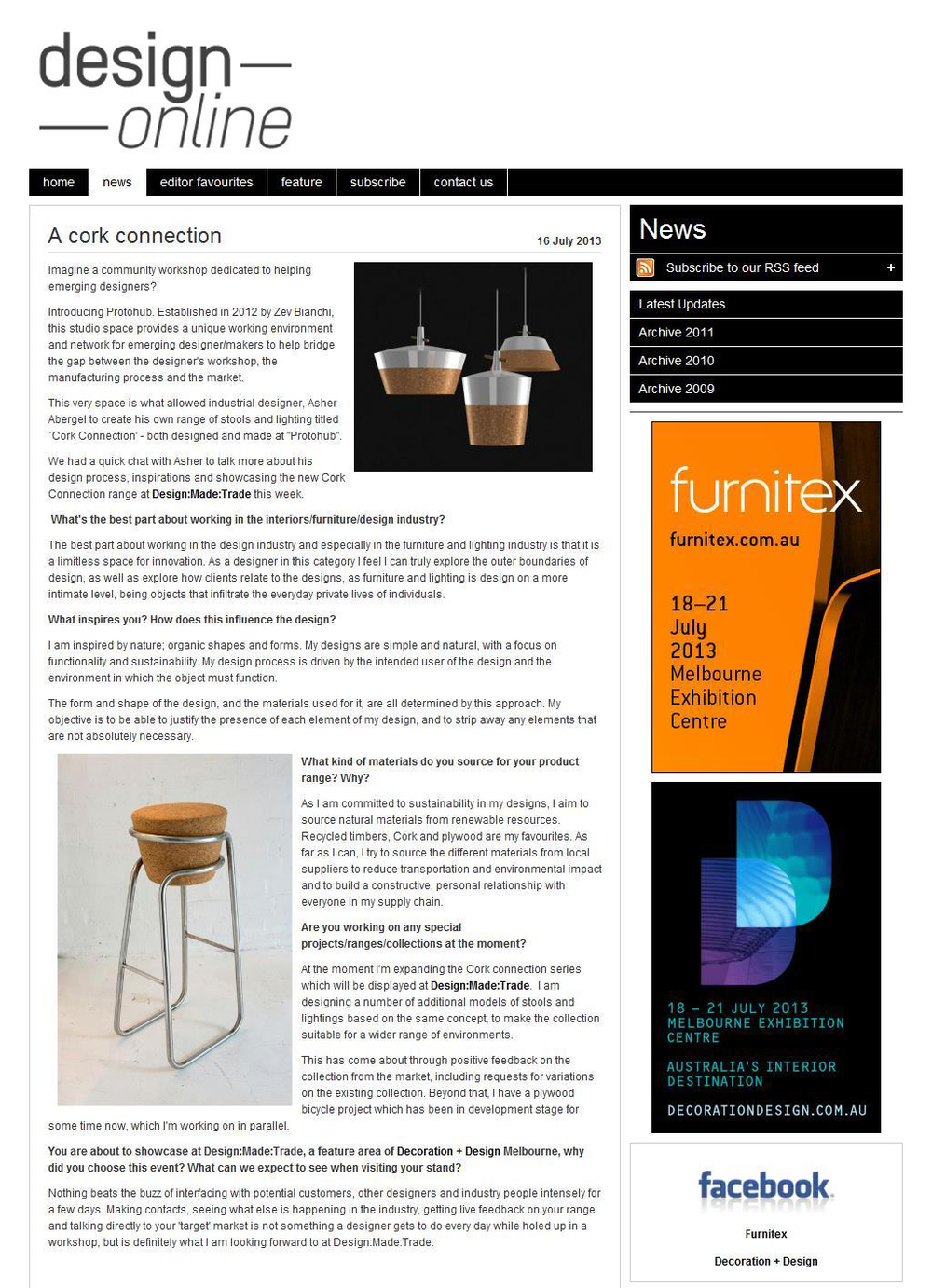 Design Online, July 2013