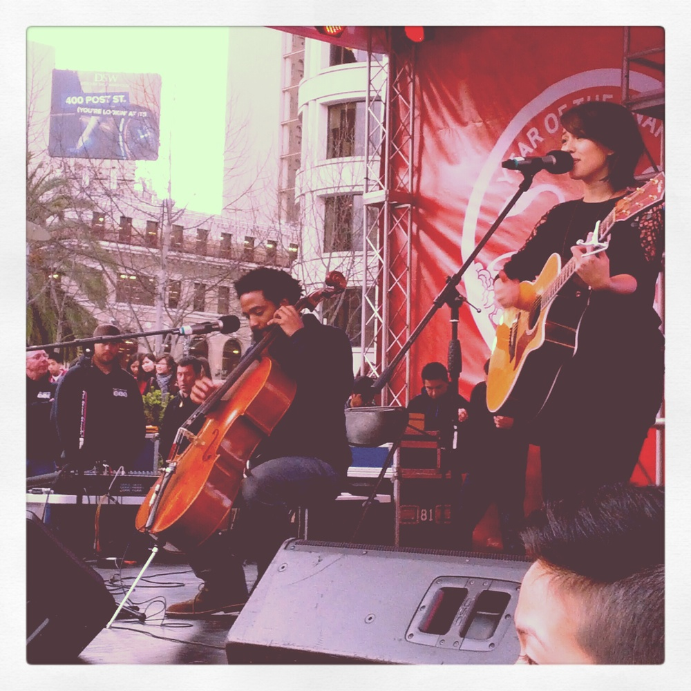 Keith Tutt and Kina Grannis in San Francisco.