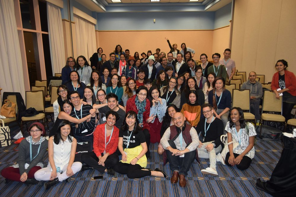 Asian American Caucus at AWP, Tampa, 2018. Photo by Bao Phi.