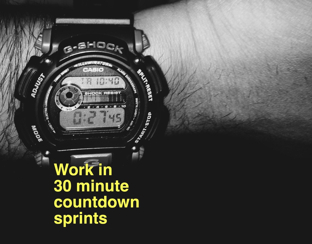 March 10: My Casio G Shock counting down while I write this post.
