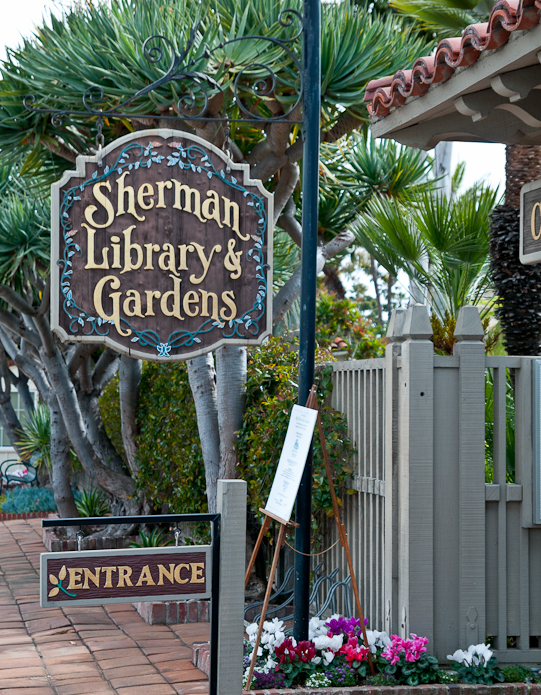 Entry at Sherman Gardens.