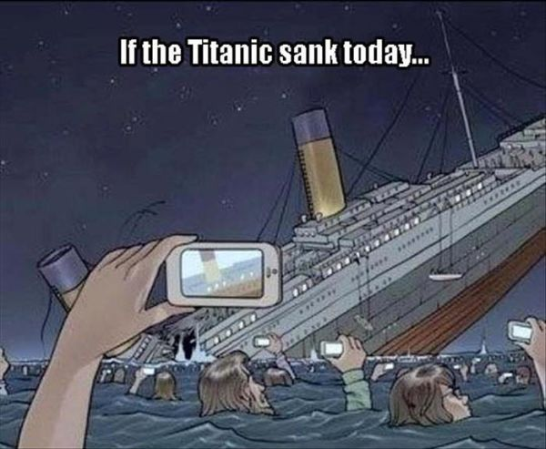 If the Titanic sank today, this is what we would be doing.
