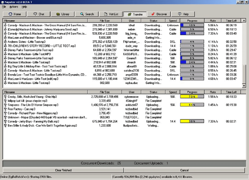 Napster allowed you to download free music in 1999.