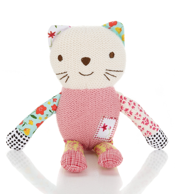 Emily Button™ Knitted Bobble Cat Toy