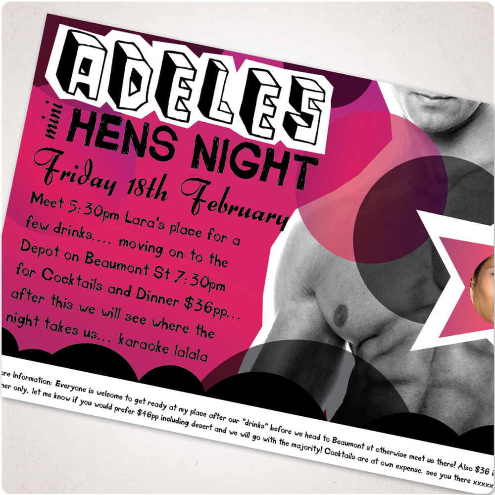 hens night invitation