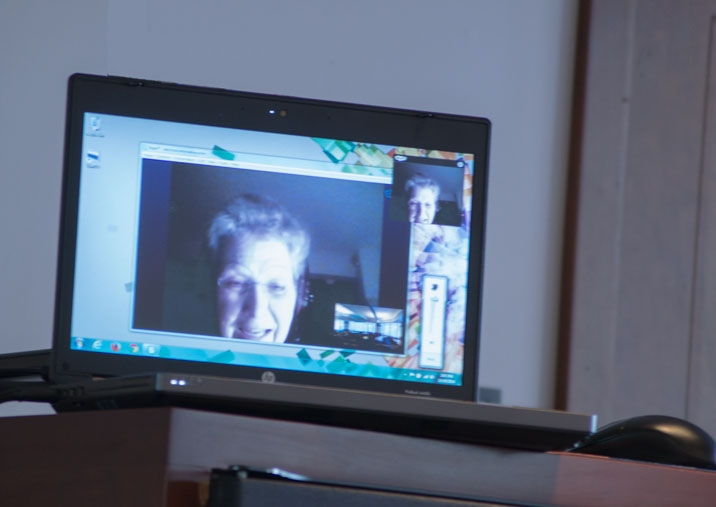 Mullarkey Chair Jocelyn Wogan-Browne  on screen from across the pond.