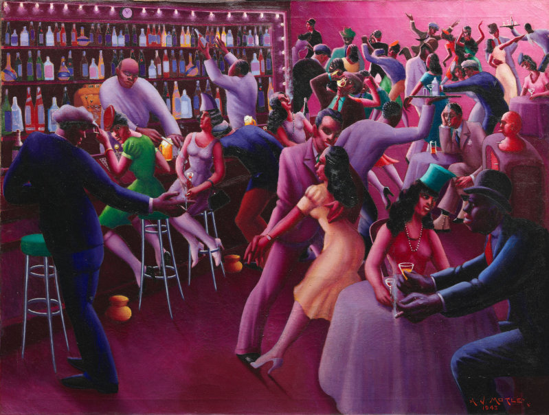 Painting by  Archibald John Motley, Jr. ; Courtesy of  The Art Institute of Chicago