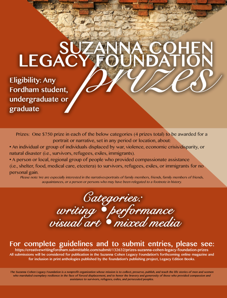 Writing Contest Opportunity for Fordham Students — Fordham