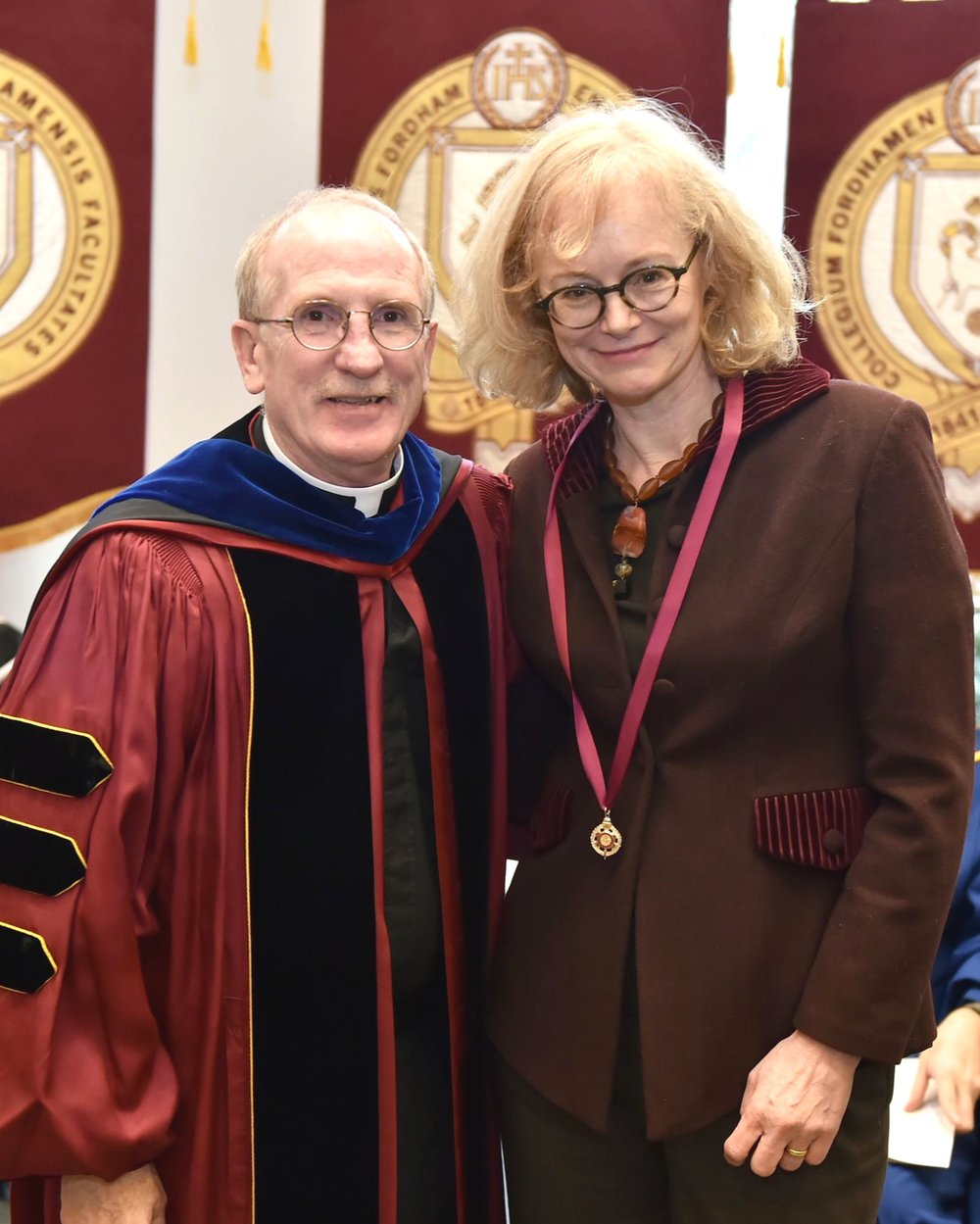 President McShane and Professor Bly