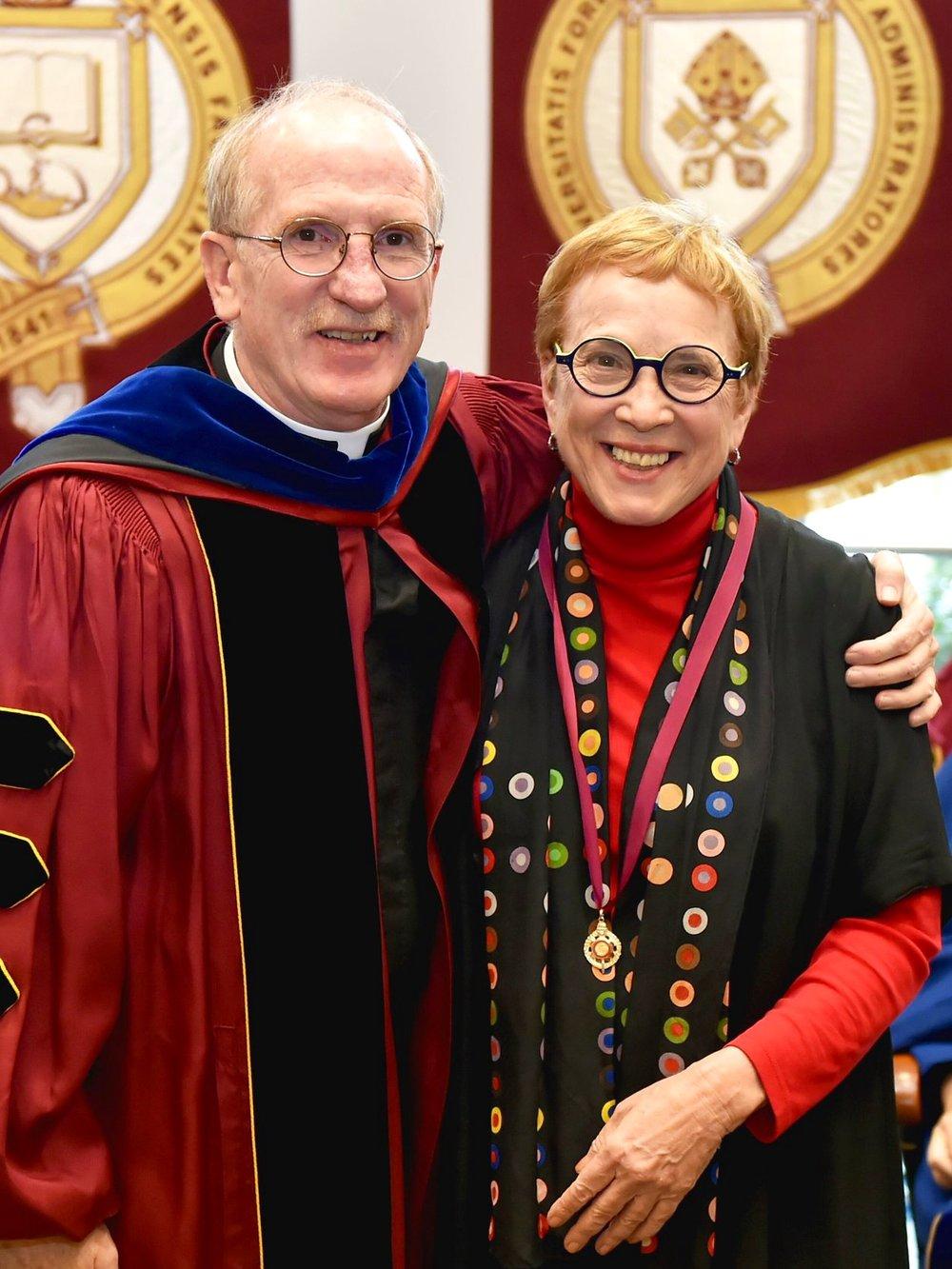 President McShane with Professor Stone