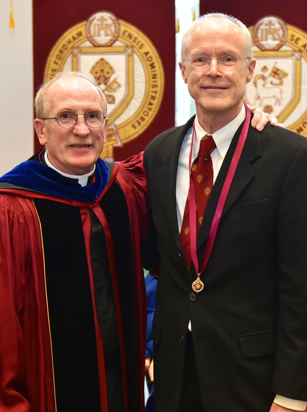President McShane and Professor Chase