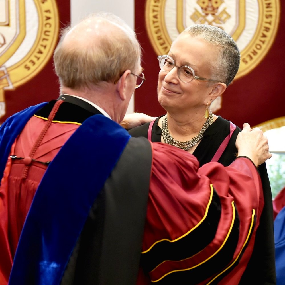 President McShane and Professor Hoffman