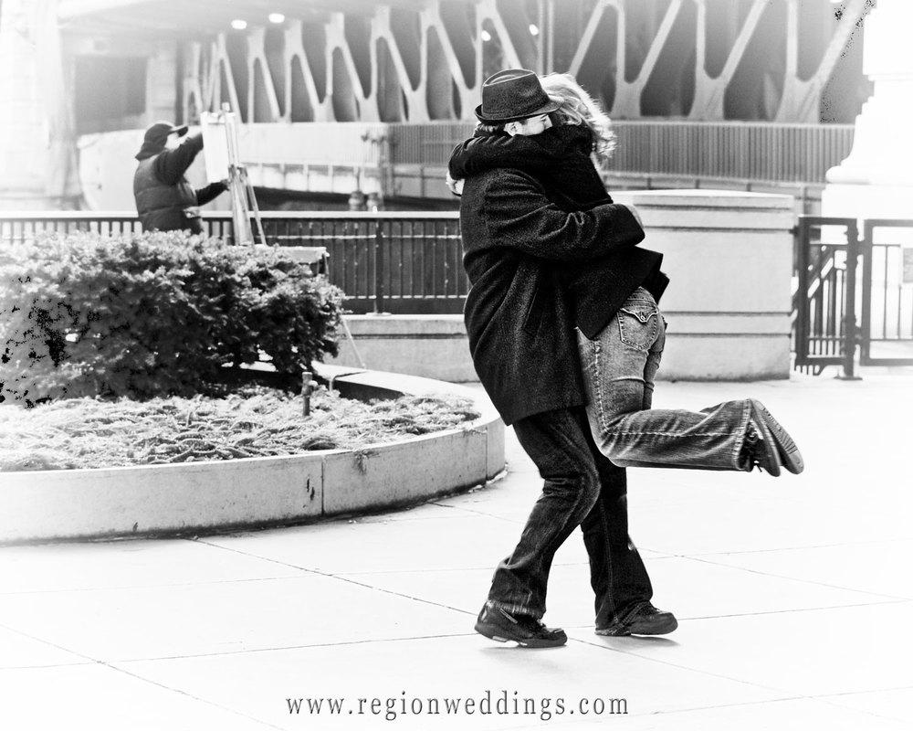Romantic Spin on Michigan Avenue